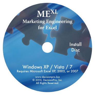 marketing engineering for excel basic package software for lab
